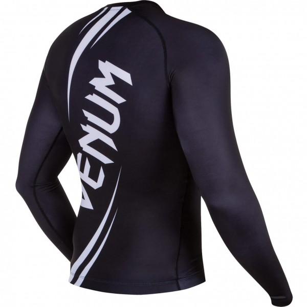Рашгард Venum Challenger Rashguard - Long Sleeves Black/White