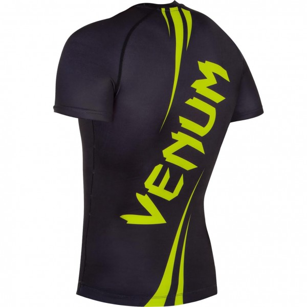 Рашгард Venum Challenger Rashguard - Short Sleeves Black/Neo Yellow