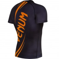 Рашгард Venum Challenger S/S Black/Neo Orange