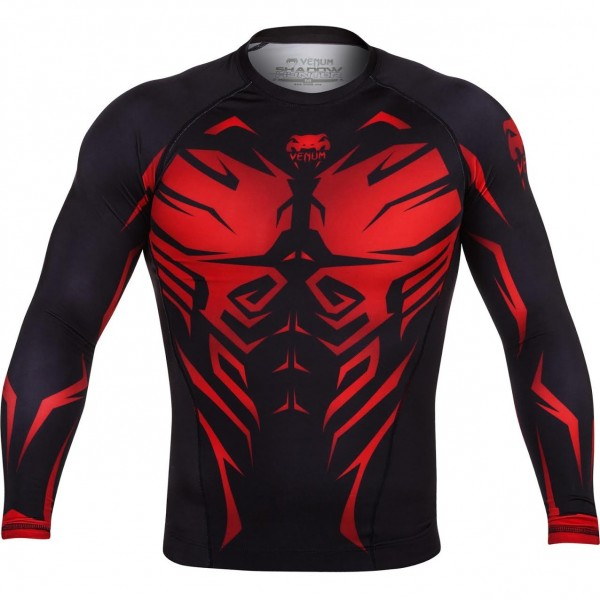 Рашгард Venum Shadow Hunter Black/Red L/S
