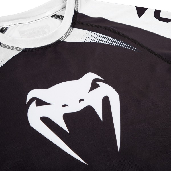 Рашгард Venum No Gi Rash Guard IBJJF Approved Black/White L/S