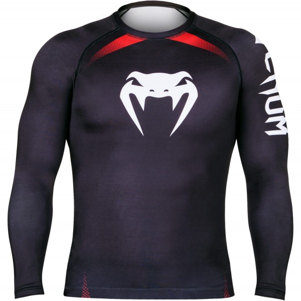 Рашгард Venum No Gi Rash Guard IBJJF Approved - Long Sleeves - Black/Red