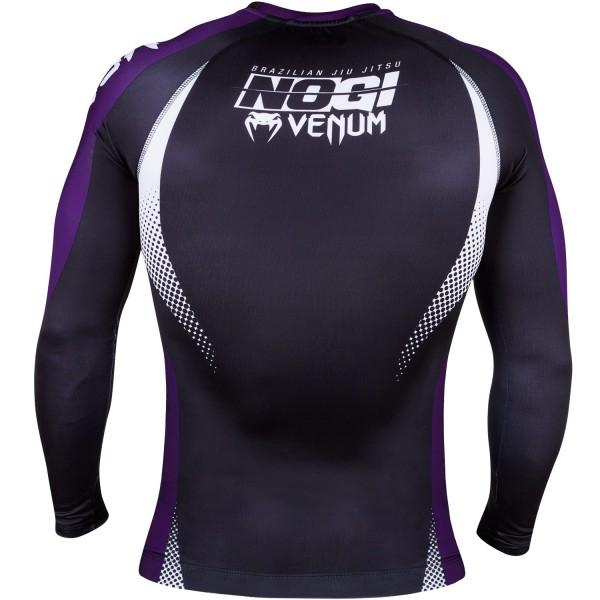 Рашгард Venum No Gi Rash Guard IBJJF Approved Black/Purple L/S