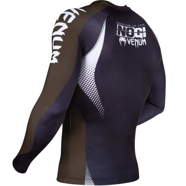 Рашгард Venum No Gi Rash Guard IBJJF Approved Black/Brown L/S