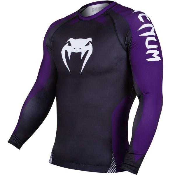 Рашгард Venum No Gi Rash Guard IBJJF Approved - Long Sleeves - Black/Purple