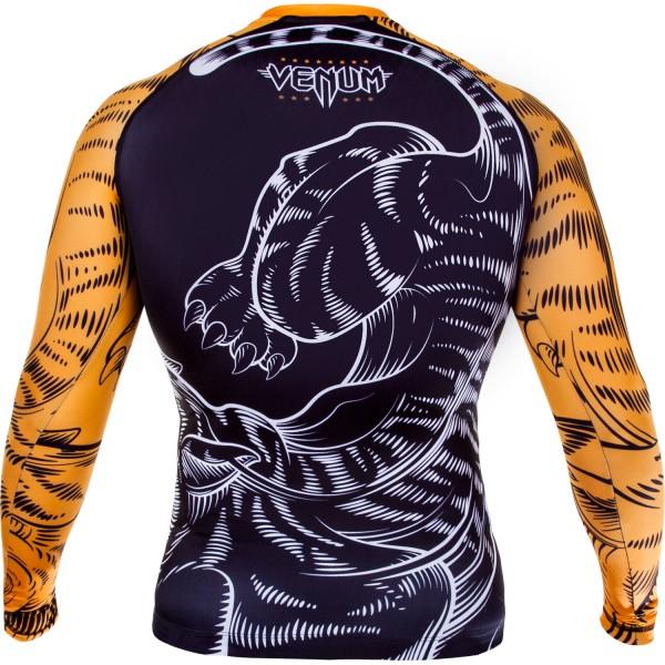 Рашгард Venum Tiger Rash Guard - Long Sleeves - Black/Orange