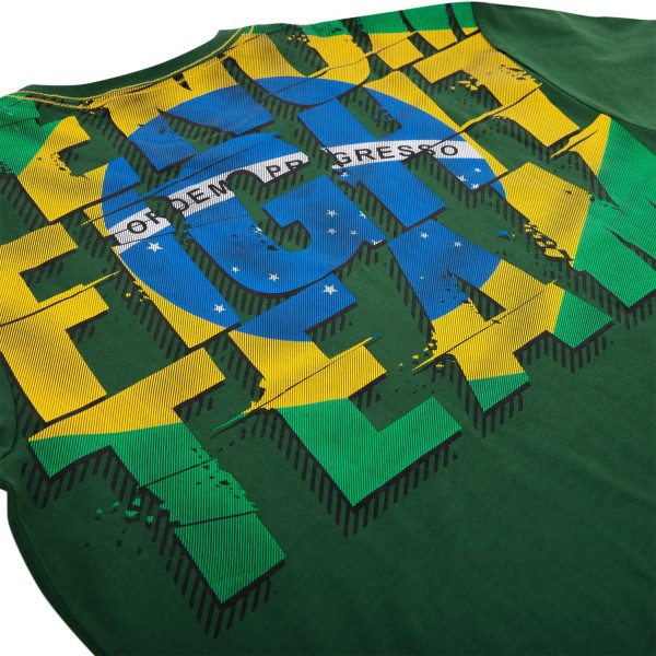 Футболка Venum Brazilian Flag T-Shirt - Green