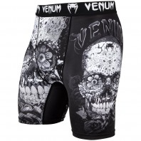 Компрессионные шорты Venum Santa Muerte 3.0 Black/White