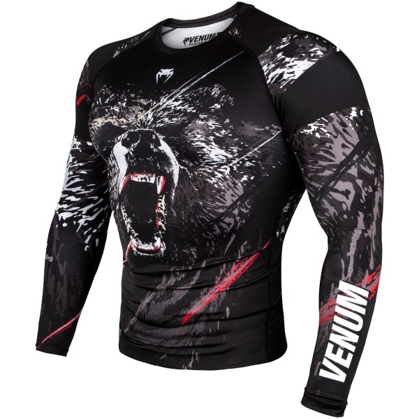 Рашгард Venum Grizzli Black/White L/S