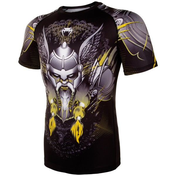 Рашгард Venum Viking 2.0 Black/Yellow S/S