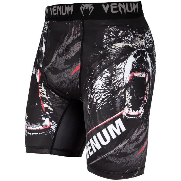 Компрессионные шорты Venum Grizzli Black/White
