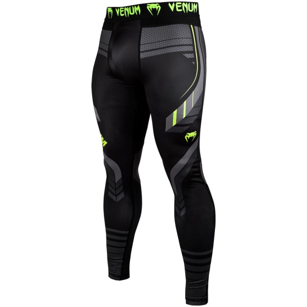Компрессионные штаны Venum Technical 2.0 Black/Yellow