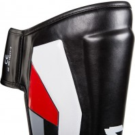 Щитки Venum Elite Black/Red/Grey