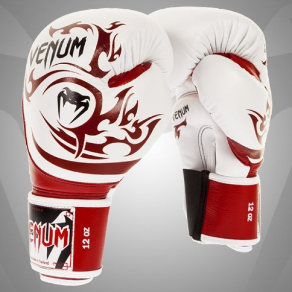 Перчатки боксерские Venum Tribal White/Red