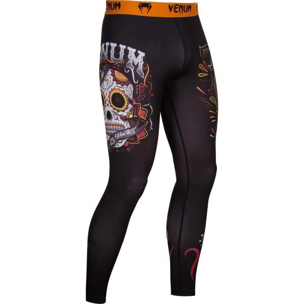 Компрессионные штаны Venum Santa Muerte 2.0 Black