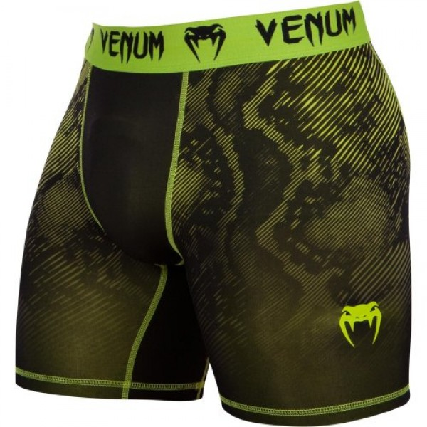 Компрессионные шорты Venum Fusion Compression Shorts - Black Yellow