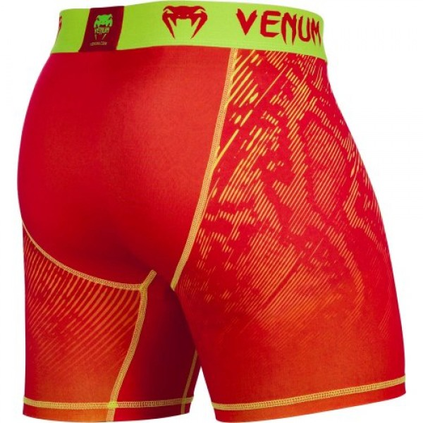 Компрессионные шорты Venum Fusion Compression Shorts - Orange Yellow