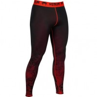 Компрессионные штаны Venum Fusion Compression Spats - Black Red