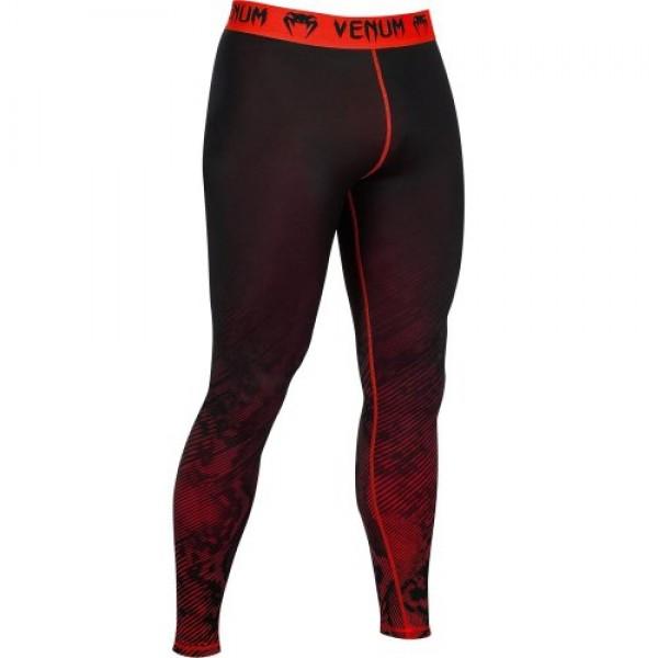 Компрессионные штаны Venum Fusion Compression Spats - Black Red