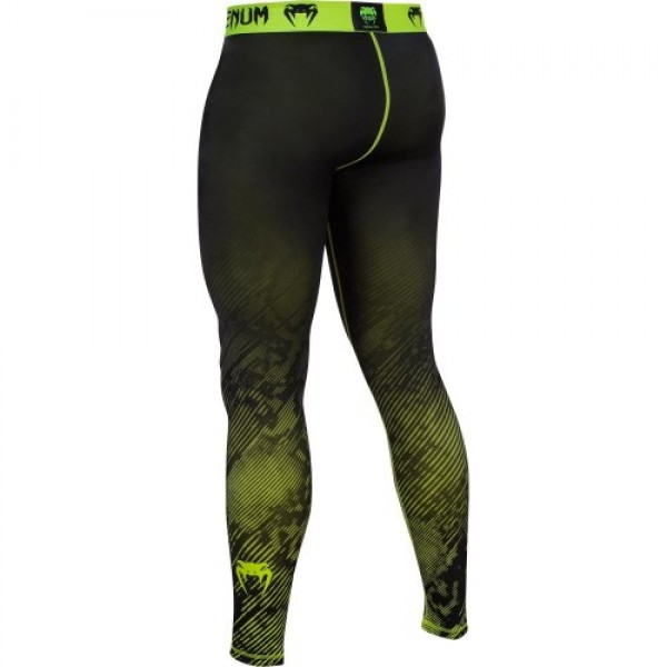 Компрессионные штаны Venum Fusion Compression Spats - Black Yellow