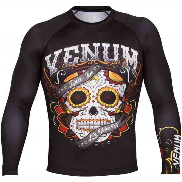 Рашгард Venum Santa Muerte 2.0 Black L/S