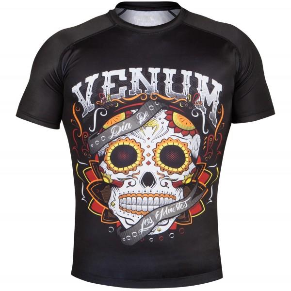 Рашгард Venum Santa Muerte 2.0 Black S/S