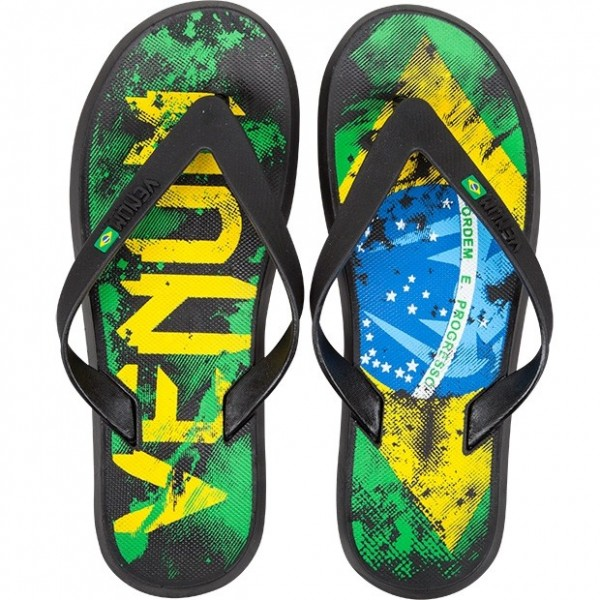 Сланцы Venum Brazilian Flag Sandals - Green/Yellow/Blue