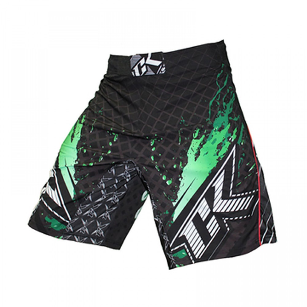 Шорты ММА Contract Killer Stained S2 Shorts - Black/Green<br>Вес кг: 350.00000000;