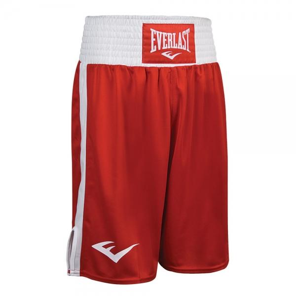 Шорты боксерские Everlast Elite Красно-Белые<br>Вес кг: 300.00000000;