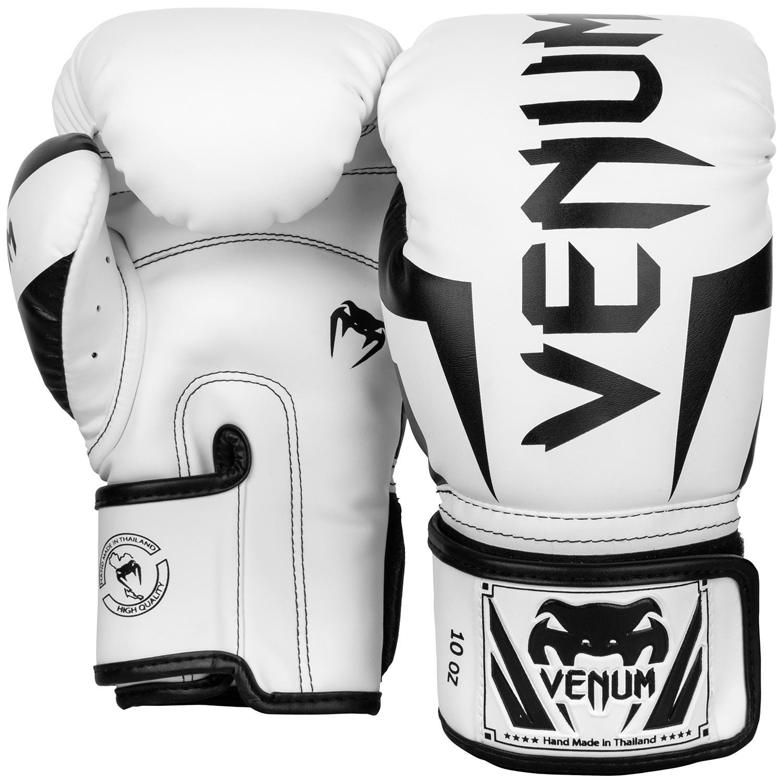 Перчатки боксерские Venum Elite White/Black<br>Вес кг: 900.00000000;