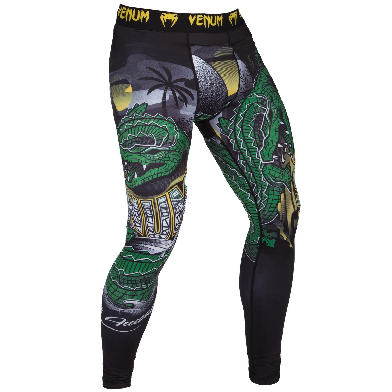 Компрессионные штаны Venum Crocodile Black/Green<br>Вес кг: 250.00000000;