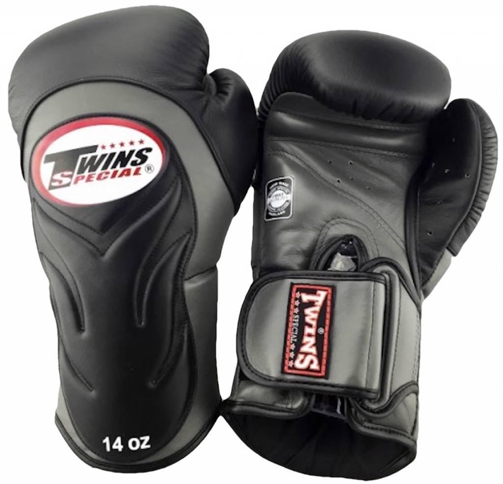 Перчатки боксерские Twins BGVL-6 Black/Grey<br>Вес кг: 900.00000000;