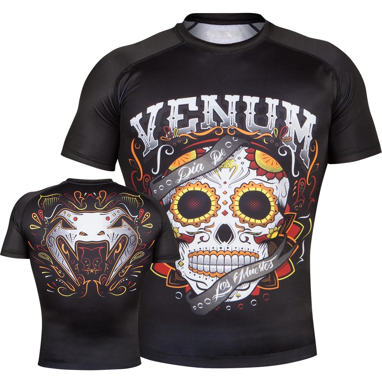 Рашгард Venum Santa Muerte 2.0 Black S/S<br>Вес кг: 200.00000000;